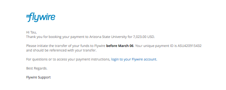 I just created an account and filled out the payment request form. Now what?